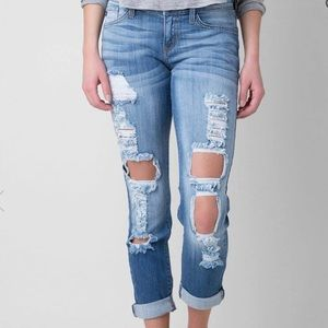 Kancan low rise cropped stretch jeans